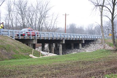 Northeast view of Schoening Bridge